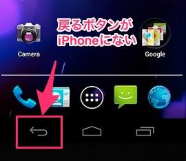 Androidスマホ「戻るボタン」