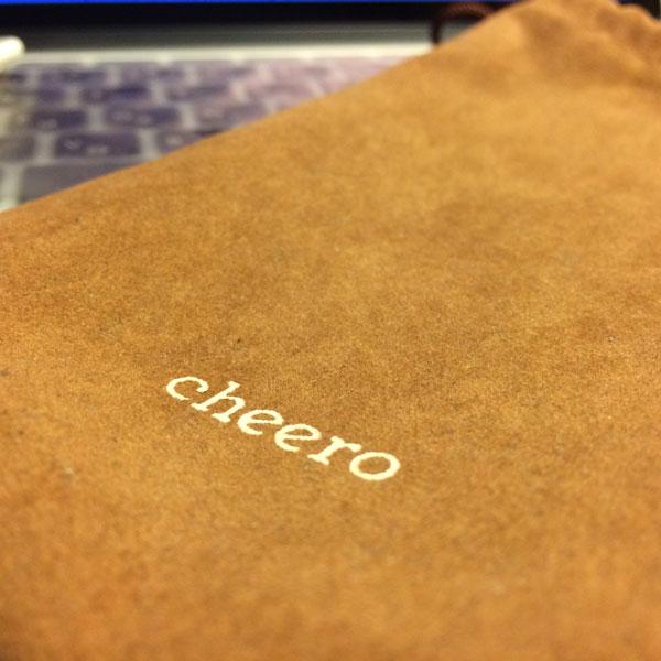 cheero Energy Plus付属品の巾着