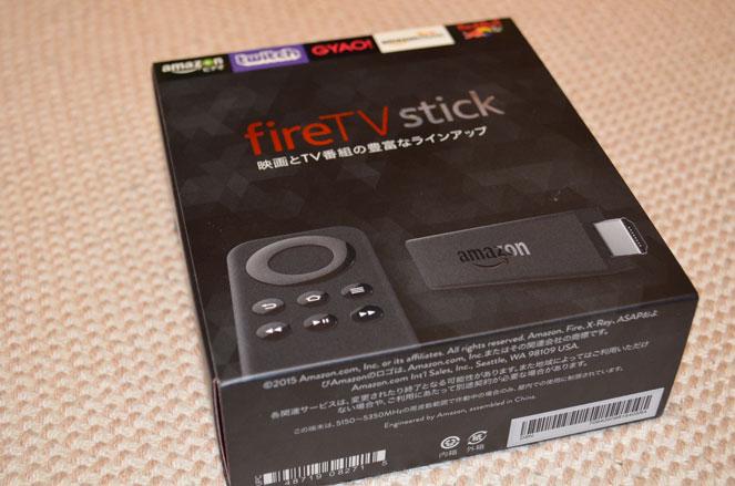 fire TV stickの箱