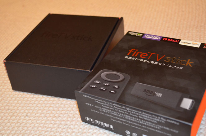 fire TV stick箱を開ける