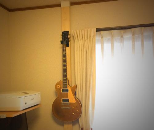 ギブソン・レスポール。ギターの壁掛け
